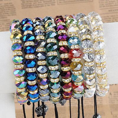 Bulk Lot Mixed Glass Bead Bracelet Girl's Macrame Bangle Cuff Wholesale