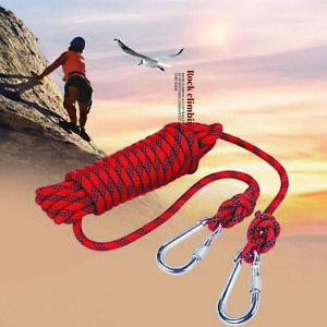 Kletterseil Sicherheitsleine Bergseile mit 2 Karabiner für Camping 25KN 1.6m