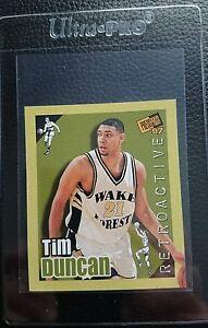 Details About 1997 Press Pass Retroactive 1 Tim Duncan Rookie Card Rc San Antonio Spurs Mint