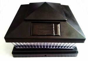 10-Pack-Solar-BLACK-Post-Cap-LED-Lights-For-6-X-6-PVC-Vinyl-or-Wood-Fence-Post