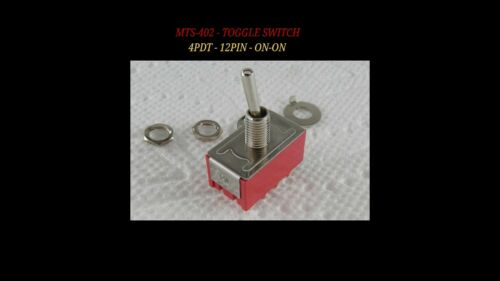 Solder Lugs MTS-402 High Quality 12Pin 5pcs 4PDT Mini Toggle Switch ON-ON USA