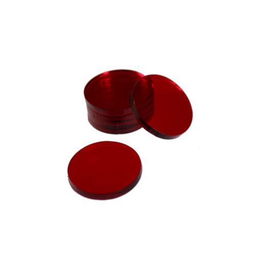Rouge Teinté Acrylique bases pour Thundercats miniatures Circle 28 mm Round