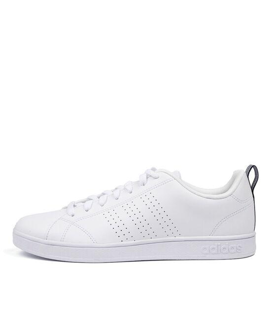 Adidas Men's Advantage Clean VS Shoe WhiteWhiteCollegiate Navy