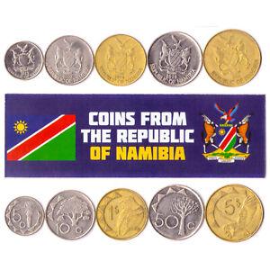5-Namibia-Muenze-Lot-abweichen-Sammlerstueck-Muenzen-aus-Afrika-Fremdwaehrung