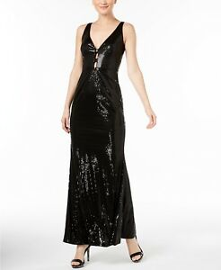 7ceb14bf1e03 Calvin Klein V-Neck Sequined Gown Size 6 MSRP  199 GB 294 NEW ...