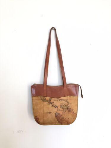 Alviero Martini I'Classe Map Print Purse/Handbag,
