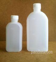 10pcs 100ml Flat-type Liquid Plastic Bottle Pe