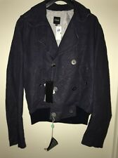 New Mens C'N'C Costume Navy Blue Double Breasted Blazer Coat Sports Jacket 36/50