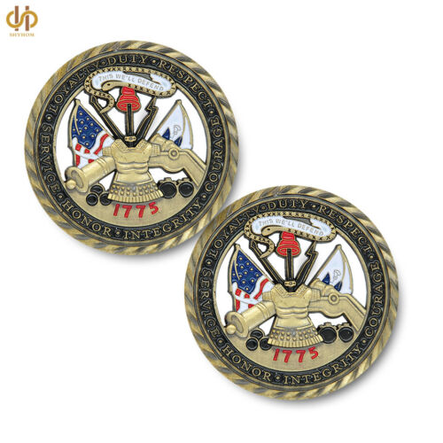 1775 US Challenge Coin Army Core Values Collectible Army Commemorative Coin