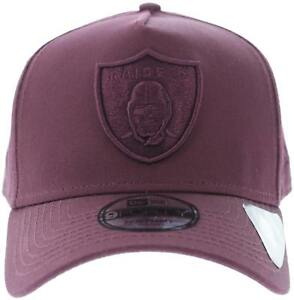 9e6823cfc Details about New Men's New Era New Era Oakland Raiders 940 A-frame  Snapback Maroon Headwear N