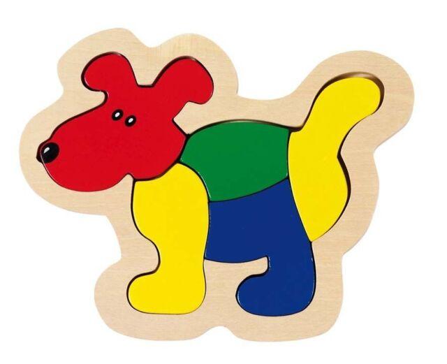 Einlegepuzzle Hund je 5-teilig aus Holz Puzzle Holzpuzzle von goki ab 2 Jahre
