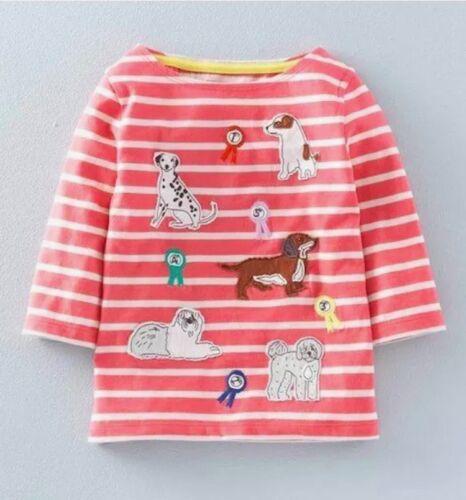 Mini Boden Girls Long Sleeve Breton Applique Tops Age 1-12Yrs