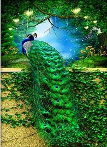 Peacock 5D DIY Diamond Painting Animal Diamond Mosaic Cross Stitch Full Square
