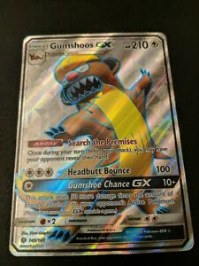 Gumshoos GX  145//149  Sun /& Moon Base  Ultra Rare Holo NM//Mint  Pokemon
