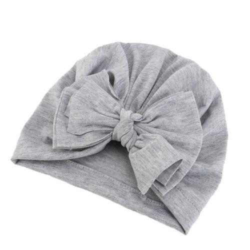 Baby Boy Girl Infant Newborn Beanies Bow Headwear Caps Knot Bow Turban Wrap Hats