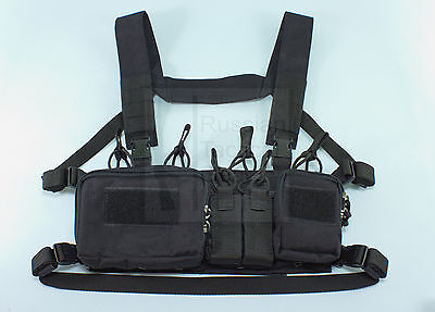 MBC Russian D3CR-H Heavy Tactical Chest Rig (Black)