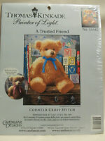 M C G Textiles NOM050184 Thomas Kinkade A Trusted Friend Counted Cross Stitch Kit 11 x 14 Count Craft Supplies