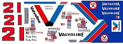 1//18th Waterslide Decals #21 Buddy Baker Valvoline Thunderbird Wood Bros