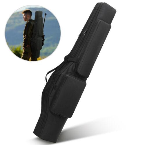 Tactical 120CM Double Carbine Rifle Gun Case Bag Padded Shotgun Hunting Backpack