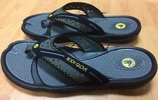 Body Glove Kona Mens Flip Flops Black / Gray Sport Sandals Size 9 New Surf