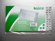 A5 quer Überbreite Leitz Register A-Z Grau NEU Plastik 20 Blatt A-Z