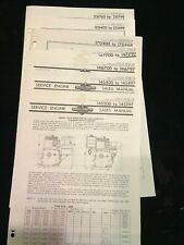 Original Vintage Old Briggs Amp Stratton Illustrated Parts List Booklets Nice