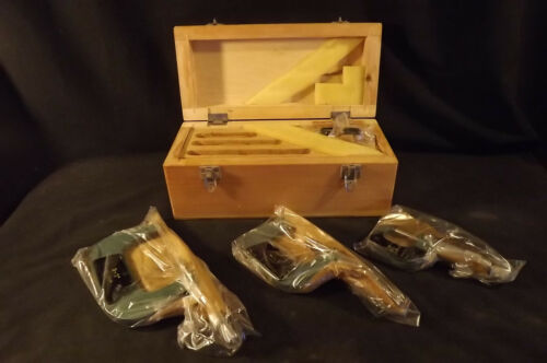 """MACHINIST/'S TOOLS:SET OF 3 NEW 0-3/"""" RANGE MICROMETERS IN ORIGINAL SEALED POUCHES"""