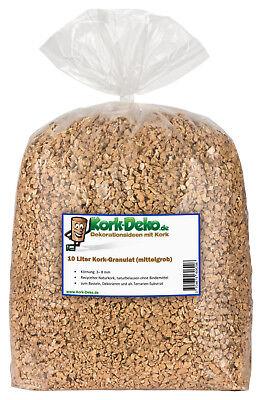 Terrariumerde 10 Liter Kork GranulatMITTELGROB 3-8 mmKork Schrot