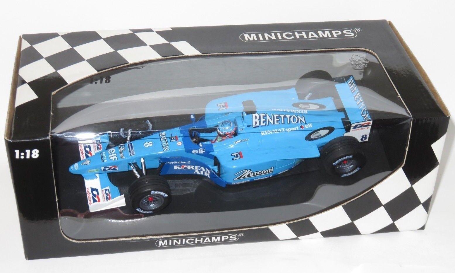 1 18 BENETTON RENAULT SPORT mostrareauto 2001 Stagione Jenson Button