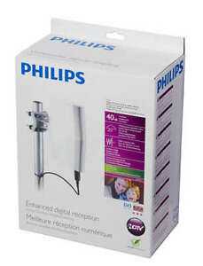 PHILIPS SDV8622 AMPLIFIED Powered Indoor//Outdoor Digital UHF VHF HDTV TV ANTENNA