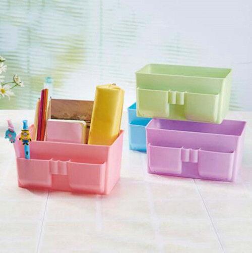 Case Cosmetic Plastic Storage Box Organizer Stationery 2016 DIY Makeup