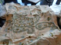 1 Pottery Barn Paisley Crewel Euro Sham Without Tag