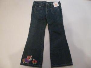 Gymboree-Stylish-Corgi-Denim-Pants-Jeans-Dog-amp-Flowers-on-Cuffs-3-6-mos-amp-UP-NEW