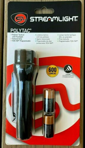 STREAMLIGHT Tactical Polytac LED Flashlight 600 Lumens Strobe Waterproof 888012