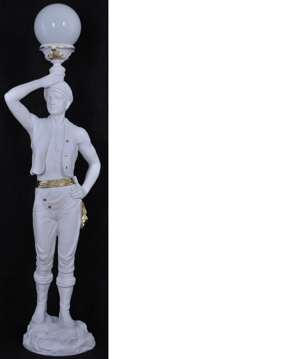 Lebensgroß Hindu Stand Leuchte Skulptur Stehleuchte Lampe Dekoration Figur 160cm