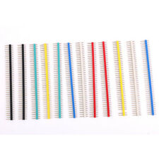12Pcs 40Pin Male Single Row Pin Header Strip 2.54mm Pitch Multicolor for PCB
