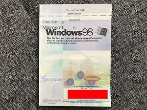 MS Windows 98 - nur Buch mit Product Key - Deutschland - MS Windows 98 - nur Buch mit Product Key - Deutschland