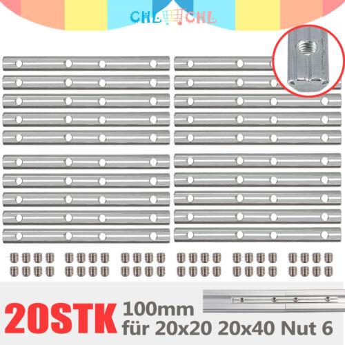 ALU Streckenverbinder 100 //180mm für 20-er 30-er 40-er Nut6 Nut8 Profilverbinder