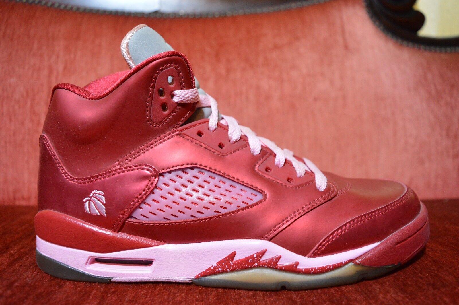 Nike air jordan 5 / retro rosso san valentino numero 7 440892 605 rosa bianca