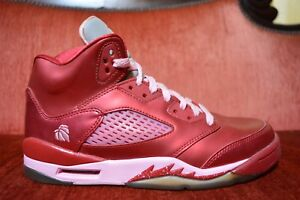 check out 3e0b7 71b14 Details about Nike Air Jordan 5 V Retro Red Valentine Day Size 7 440892 605  Pink White