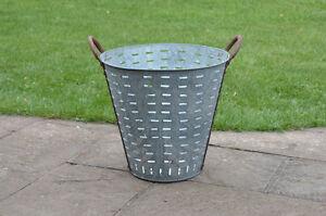 vintage-metal-shellfish-olive-basket-bucket-lighting-FREE-DELIVERY