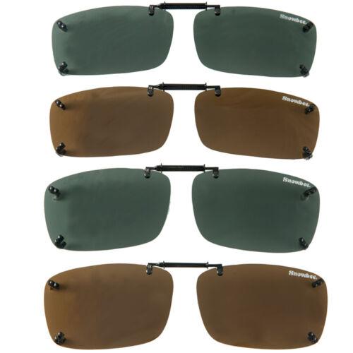Smoke 180081-S Small Snowbee Clip-on Spring Adjuster Sunglasses