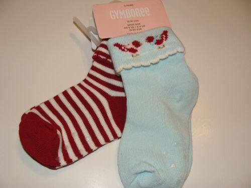 Gymboree Snow Bird Girls 6-12 M Socks NEW
