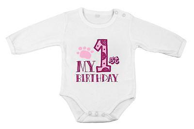 Mein 1. Geburtstag Party Neugeborenes Baby Mädchen Body Baumwolle Langärmlig Im In- Und Ausland FüR Exquisite Verarbeitung, Gekonntes Stricken Und Elegantes Design BerüHmt Zu Sein