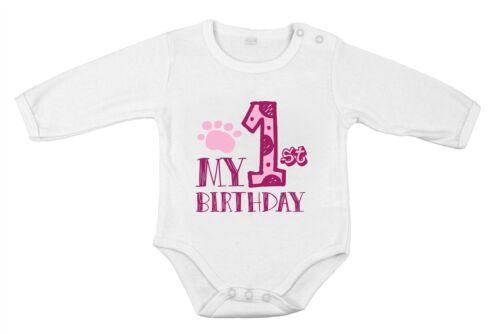 Geburtstag Party Neugeborenes Baby Mädchen Body Baumwolle langärmlig Mein 1