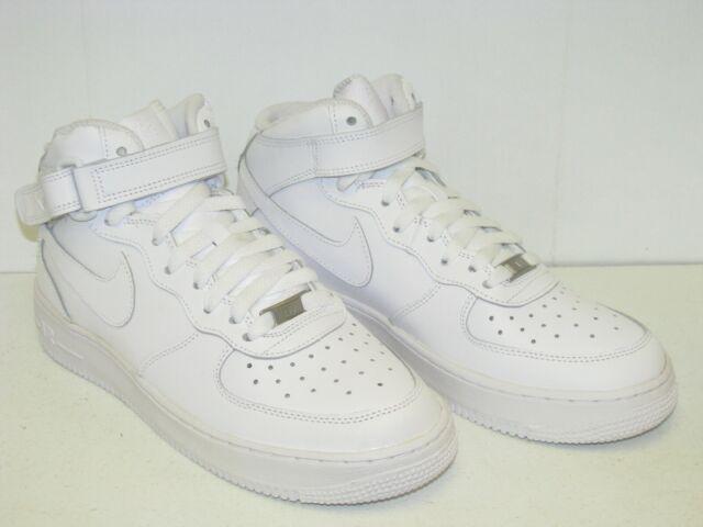 Nike Air Force 1 Mid White 2013 GS 314195 113 Sz 7y EUR 40
