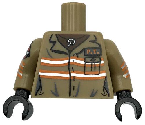 Part Lego New Patty Tolan Ghost Busters Minifigure Torso Jumpsuit Female  P.T
