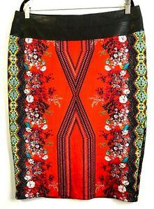Bisou-Bisou-Michele-Bohbo-Pencil-Skirt-16-Art-Hi-Lo-Hem-Faux-Leather-Waistband