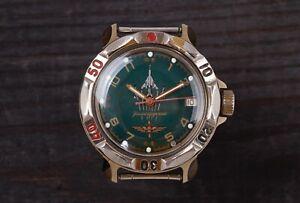 Vostok-komandirskiye-RUSSO-CORAZZATI-2414A-Orologio-REVISIONATA
