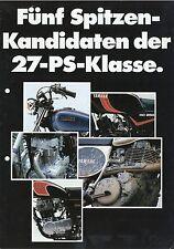 Prospekt 1981 1 81 Yamaha XT SR 500 XS400 Special RD 250 Motorrad Japan brochure